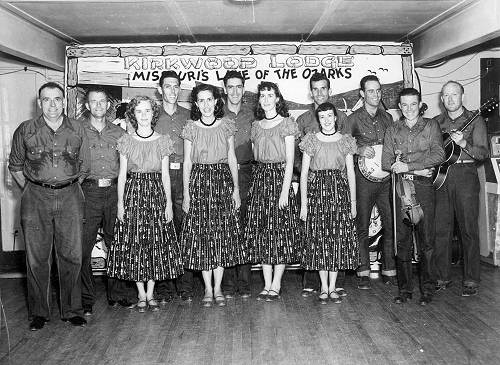 15 Lake of the Ozarks Square Dance Team - Lee and Joyce Fourth and Fifth from Left