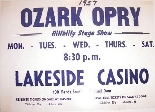 16b Poster Advertisement of First Opry Show